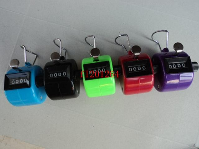 FEDEX DHL Free shipping Wholesale Colorful 4 Digits Number Plastic Hand Tally Counter for Golf Sport ,50pcs/lot