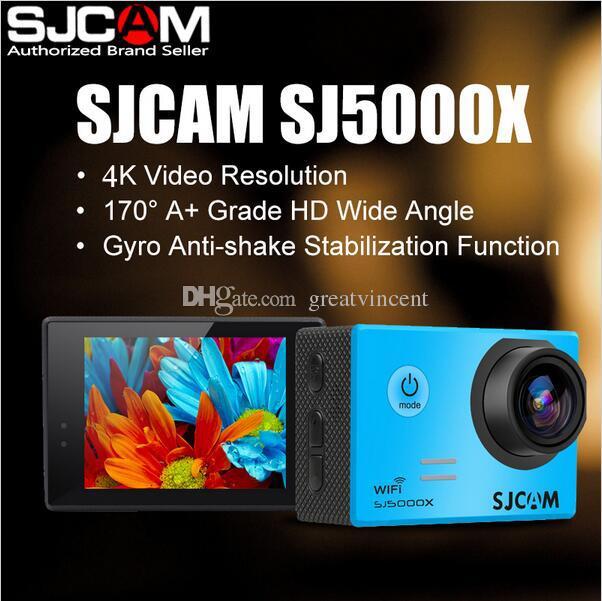 원래 SJCAM 브랜드 SJ5000X WiFi 4K 24fps 자이로 스포츠 HD DV 자동차 DVR 2.0 LCD NTK96660 다이빙 30m 방수 헬멧 액션 카메라