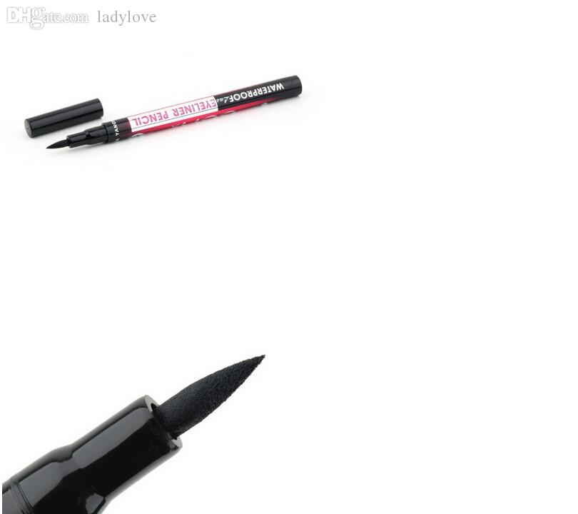 Wholesale-5pcs Black Eyeliner Waterproof Liquid Make Up Beauty Cosmetic Eye Liner Pencil for Russian USA Spain girls