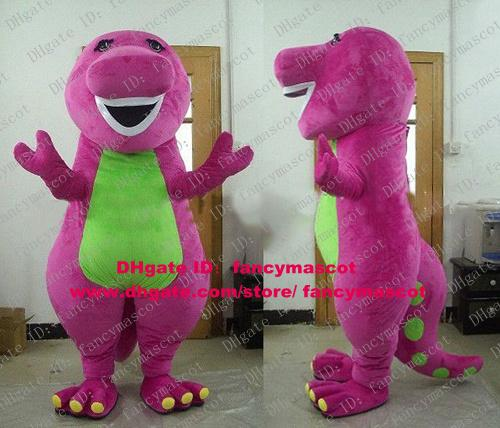 Adorable Purple Dinosaur Dino Barney & Friends Mascot Costume With Green  Belly Long Tail Strong Body Yellow Nails No 4128 F S Vampire Halloween