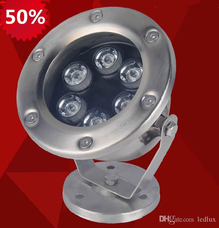 High Power 9W LED Podwodne światło LED Basen Lampa LED Fontanna Lampa DC12V 18W IP68 RGB i monochromatyczne