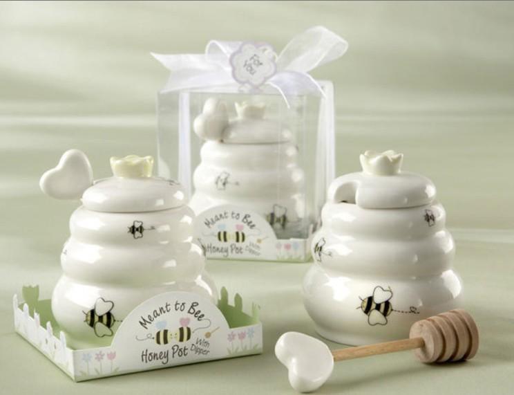 وصول جديد يعني إلى نحلة رخيصة السيراميك وعاء العسل + 100 مجموعة / وحدة زفاف استحمام الطفل لصالح هدايا