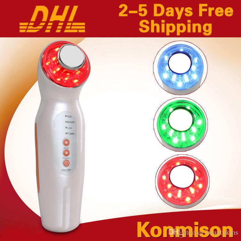 휴대용 초음파 얼굴 기계 PDT 스킨 레 쥬 베 네이션 페이셜 마사지 Facing Lifting Photon 스킨 케어 DHL 무료 배송