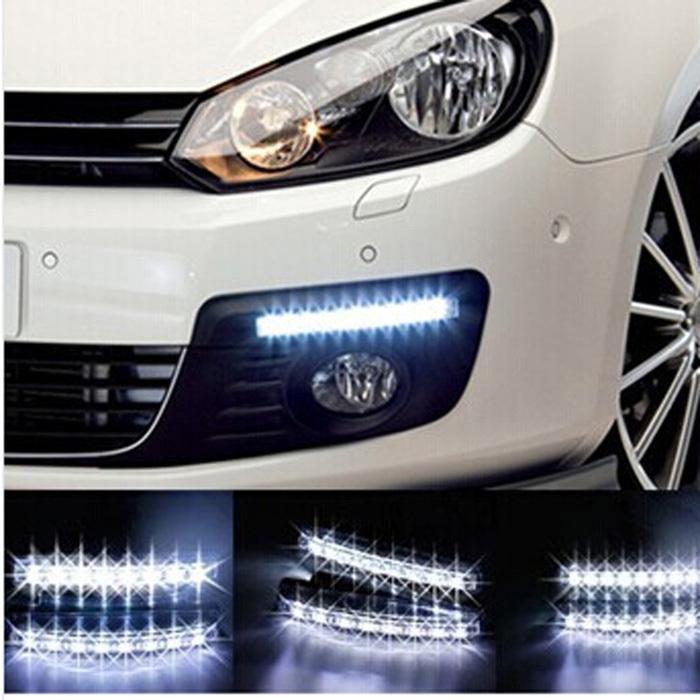 Led Lights For Cars >> 2015 Universal Car Light Car Fog Lights Super White 8 Led Daytime Running Light 12v Dc Head Lamp Car Styling Led Lights Rgb Strip Lights Flexible Led
