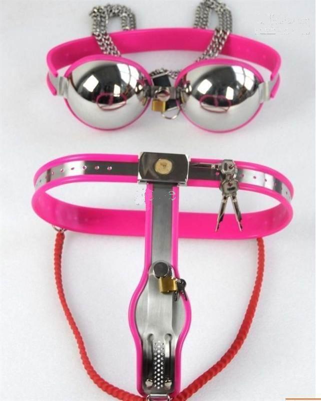 DHL Женский металлический брюки Y пояс с бюстгальтером + Металлическая анальная игрушка + Вибратор