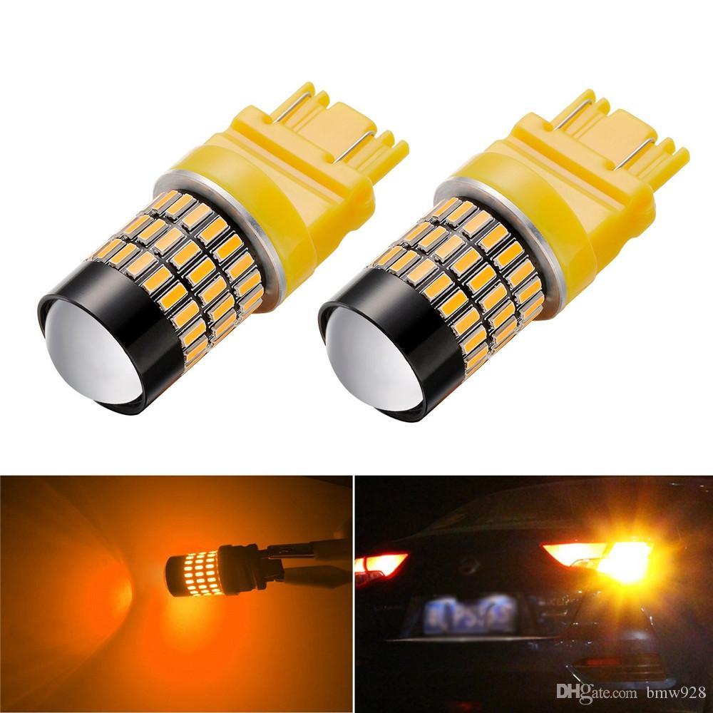 100PCS / LOT Chipset Super Bright 4014 72-PL 3056 3156 3057 3157 Lampadine a LED utilizzate per segnale di svolta, confezione da 100
