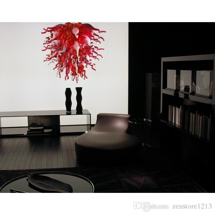 Salon Décor À La Main Soufflé Lustre En Verre Lumière AC 110V 220V LED Source De Lumière Chihuly Style Art Moderne Lustre En Verre