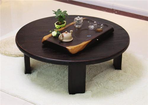 Acheter Table Ronde Japonaise Jambes Pliantes 98cm Asian Antique Furniture  Dinning Plancher Traditionnel Bas En Bois Table Basse Space Saving De ...