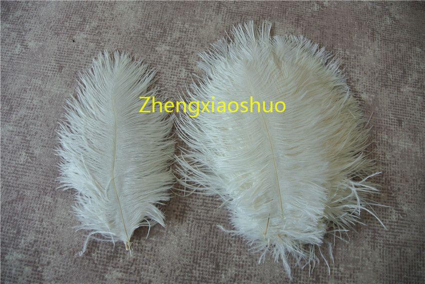 도매 100pcs / lot 흰색 5-8 인치 타조 깃털은 결혼식 centerpieces 홈 파티 용품 장식 사상가 공급 장식