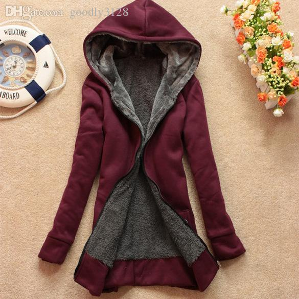 도매 - 겨울 코트 여성 후드 웨이 모피 따뜻한 캐주얼 드레스 후드 롱 스웨터 양털 재킷 카디건 여성 의류