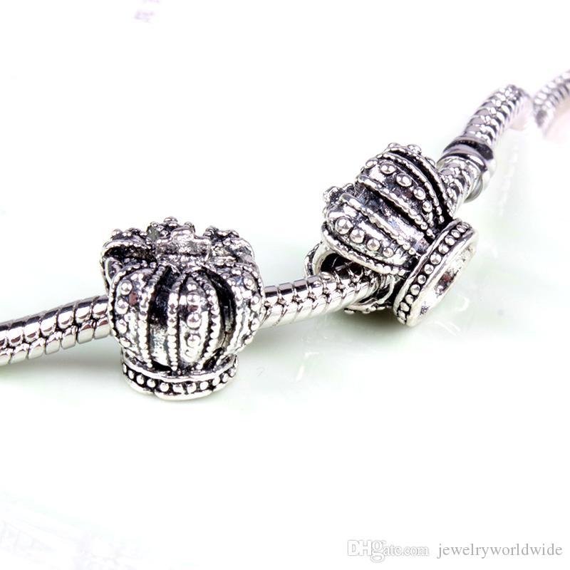 تاج الرجعية سبيكة سحر الخرزة أزياء المرأة مجوهرات تصميم مذهل النمط الأوروبي ل diy سوار قلادة panza002-20