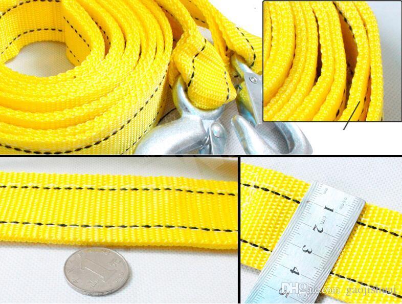 5 Tonne / 5 Meter-Auto-Schleppseil-Schleppseil-Seil mit den Haken-Notfall-Hochleistungs-Neuware Gute Qualitätsabschleppseil