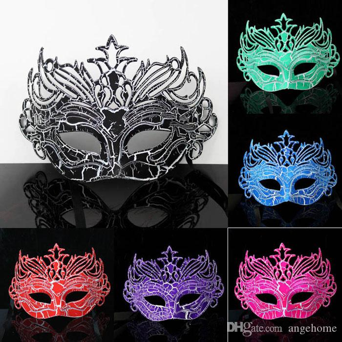 6colors Fashion Crack couronne masque surface peinture en aérosol baron prince danse masques Halloween Costume Party Masques