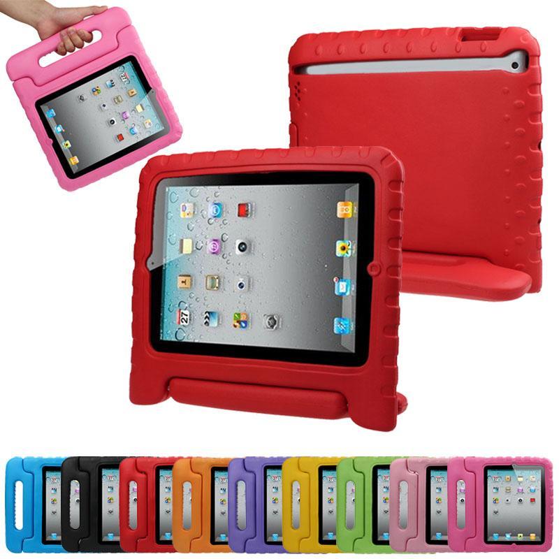 I bambini giudicano ipad Caso Safe Soft EVA gomma piuma della luce Peso Shock Proof Maniglia caso con il basamento per iPad Mini 1/2/3 Air 3/4 9.7 10.2 10.5 Pro 11