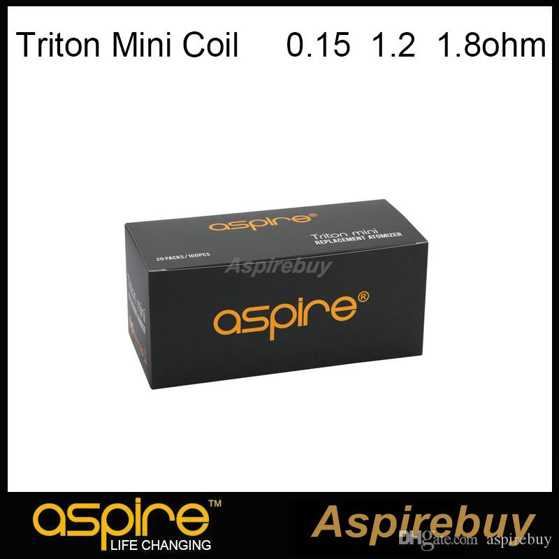 Aspire Triton Mini Coil 1.8ohm Clapton Coil and Replacement Temperature Sensing Ni-200 0.15ohm Coil and Replacement 1.2ohm 100% Authentic