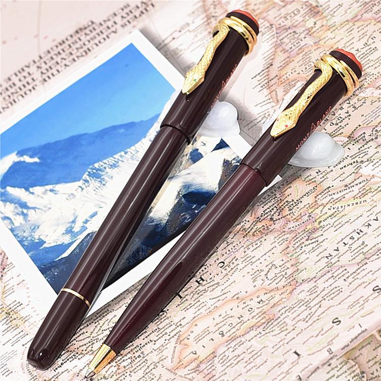 Einzigartige hochqualit rote Harz Kugelschreiber Größe Heritage Collection Dark Sonderedition Stifte Snake Clip Schulbüro Geschenk