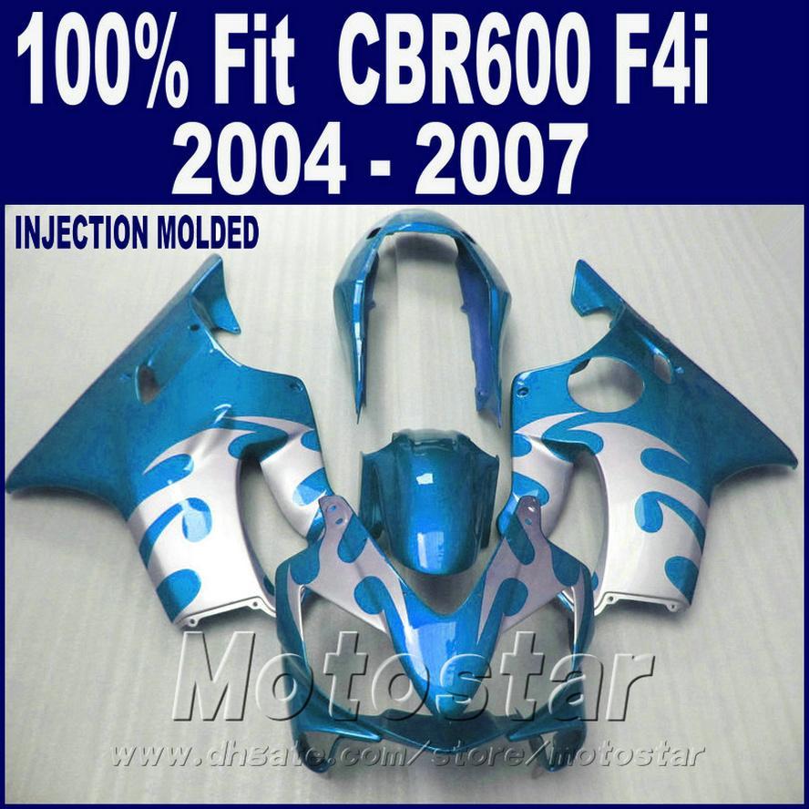 kaporta parçalarını kişiselleştirin HONDA CBR600 F4i kaporta 2004 Enjeksiyon kalıbı 2005 2005 2007 sağ mavi cbr600 f4i 04 05 06 07 TXDW