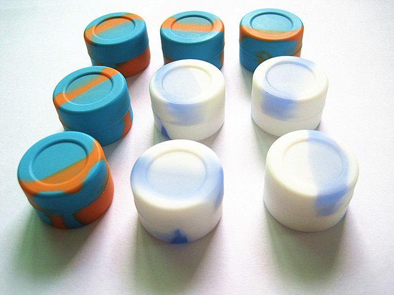 Качество одобренное FDA пищевое масло пятно 3 мл небольшой мини матовый конец антипригарным силиконовые Dab Jar контейнеры для масла воска