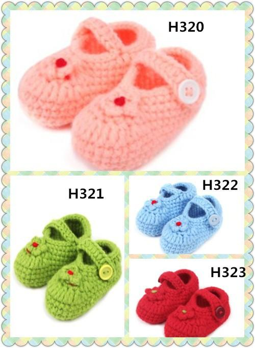 2015 New design handmade Crochet baby shoes with 9cm/ 10cm /11cminfant booties girl flower leaves 0-12M cotton yarn