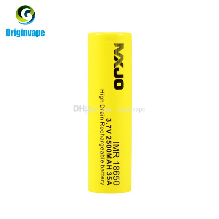 Original 18650 Battery 2500mah 35A Discharge Rechargeable Lithium 18650 Batteries Using for VW VV BOX MOD Fedex Free Shipping