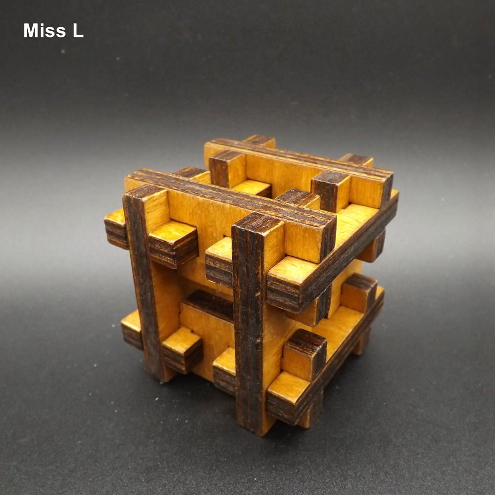 رائعة كونغ مينغ قفل لغز H الشكل ألعاب خشبية للأطفال Brainteaser ألعاب هدية التدريس دعامة العقل لعبة