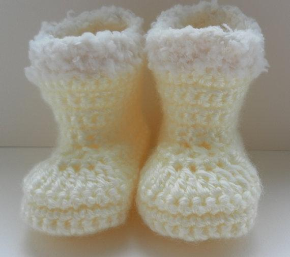 Hand Knitted Crochet Baby booties first shoes trainers unisex Knit To Order