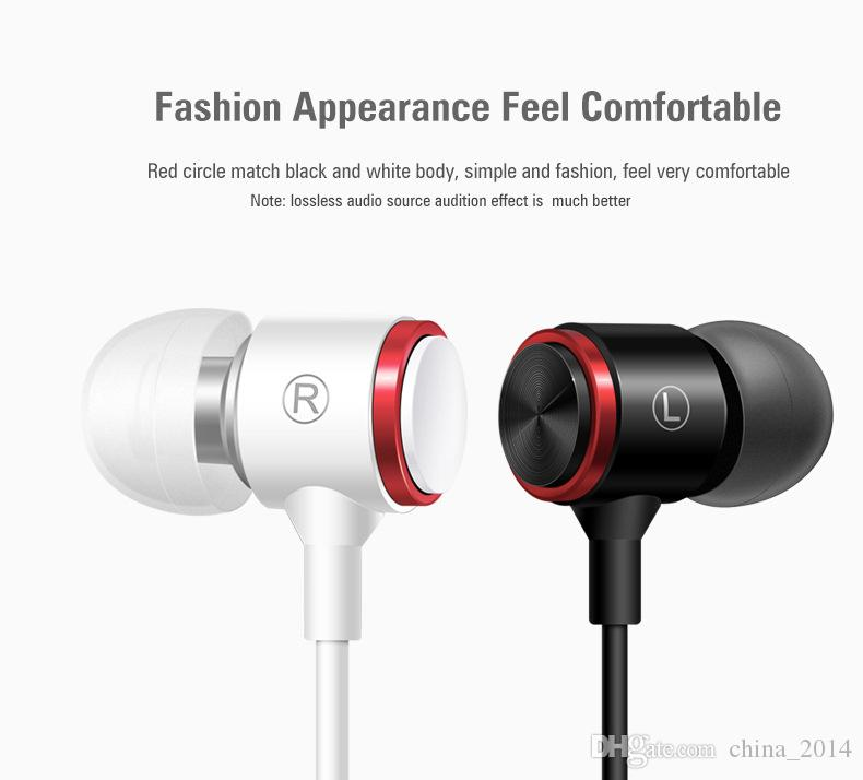 wire earphone metal bass straight PC headset in-ear sports headphones selling explosions free shipping with retail box universel for phone