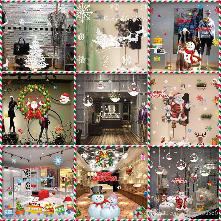 Adesivi murali decorazioni natalizie decorazioni natalizie antistatiche adesivi per vetrine senza colla adesivi in vetro gratis shopping