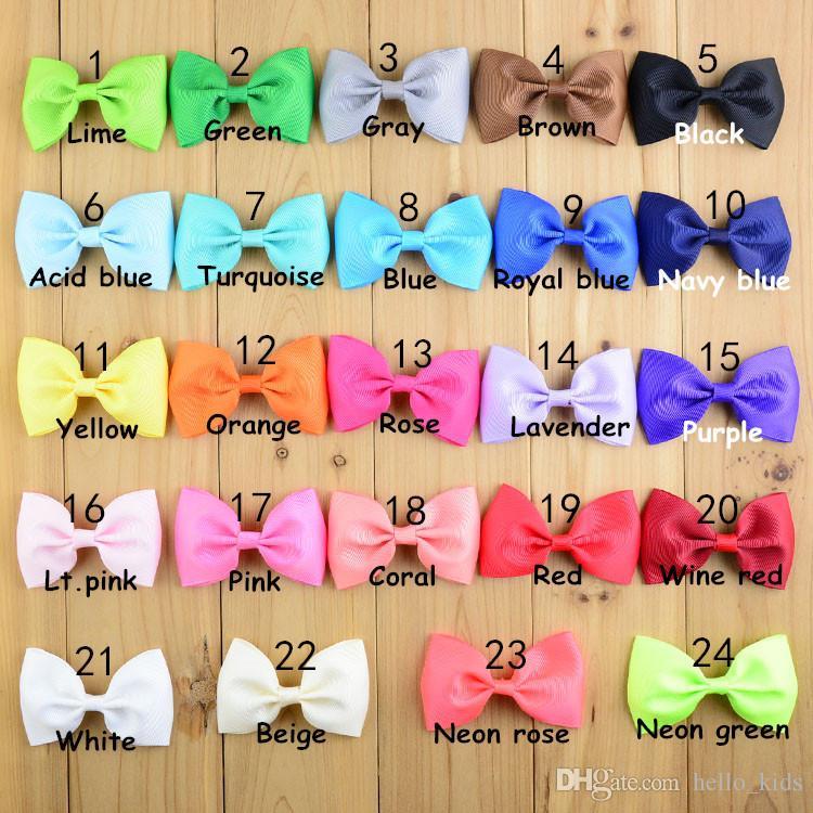 "3"" Ribbon Bowknot DIY Baby Hair Clip Accessories monolithic tail bowknot DIY headbands for girls"