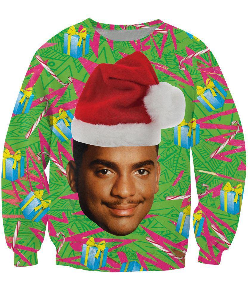 Carlton Crewneck Sweatshirt Fresh Prince of Bel-Air Christmas design Alfonso Ribeiro Jumper Women Men Fashion Sweats Hoodies