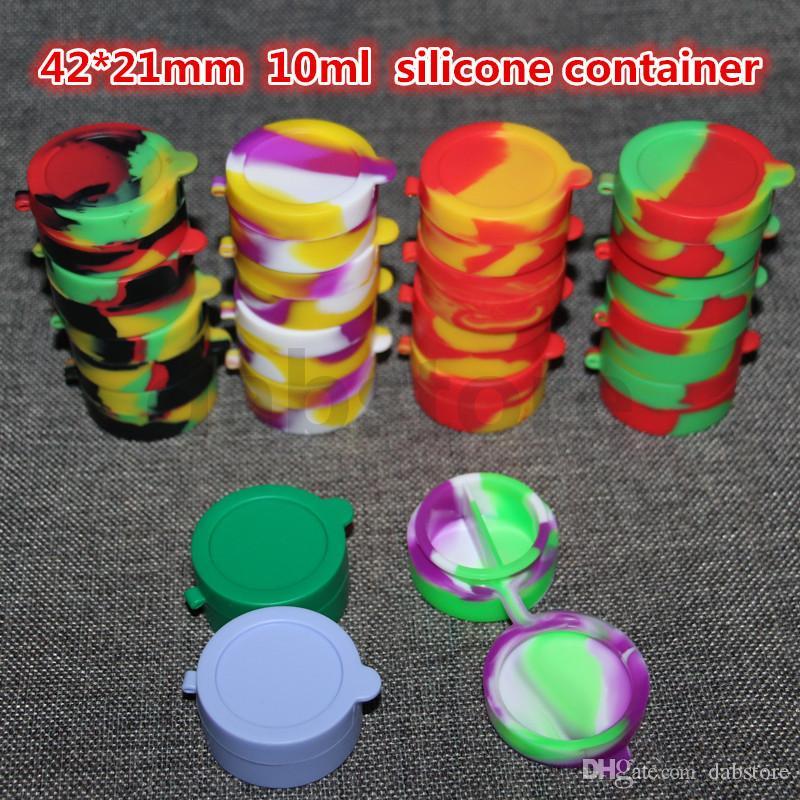 실리콘 dab 컨테이너 10 ml 실리콘 항아리 왁 스, 식품 학년 실리콘 오일 컨테이너, 실리콘 dab 컨테이너 무료 DHL