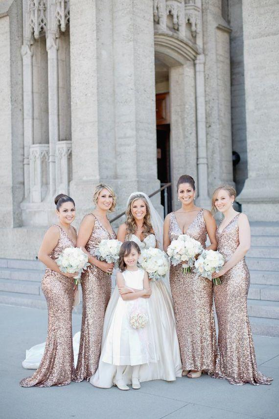 Sexy V Neck Sequin Bridesmaid Dresses 2015 Shiny Mermaid Wedding Party Dresses Prom Gowns Floor Length Sliver Maid of Honor Dress