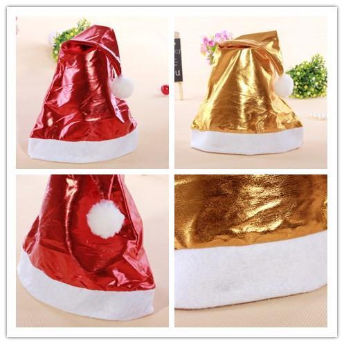 크리스마스 모자 모자 반짝이 산타 모자 MERRY CHRISTMAS 산타 클로스 모자 모자 레드 골드 크리스마스 크리스마스 모자 모자 선물 foradults 어린이 38 * 27cm PS43