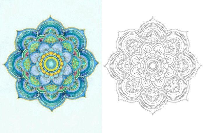 1 X Zen Mandalas Coloring Book