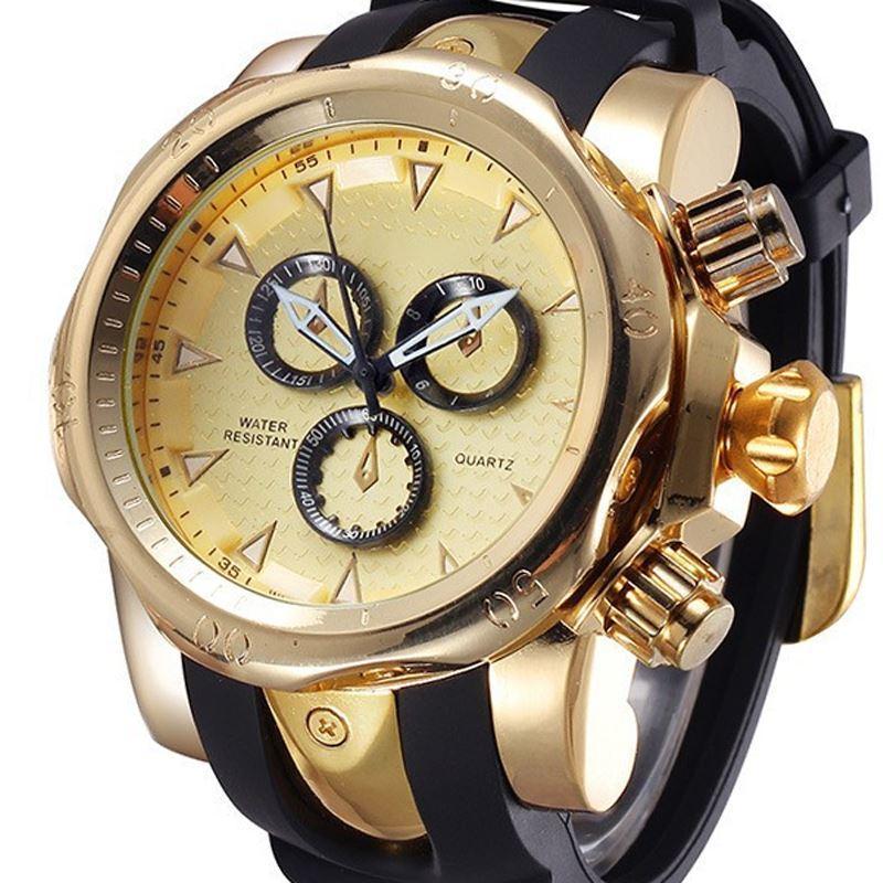 SHHORS Марка подлинная мужские кварцевые часы 3D поверхностный чехол спортивные часы восхождение наручные часы montre homme relogios masculinos