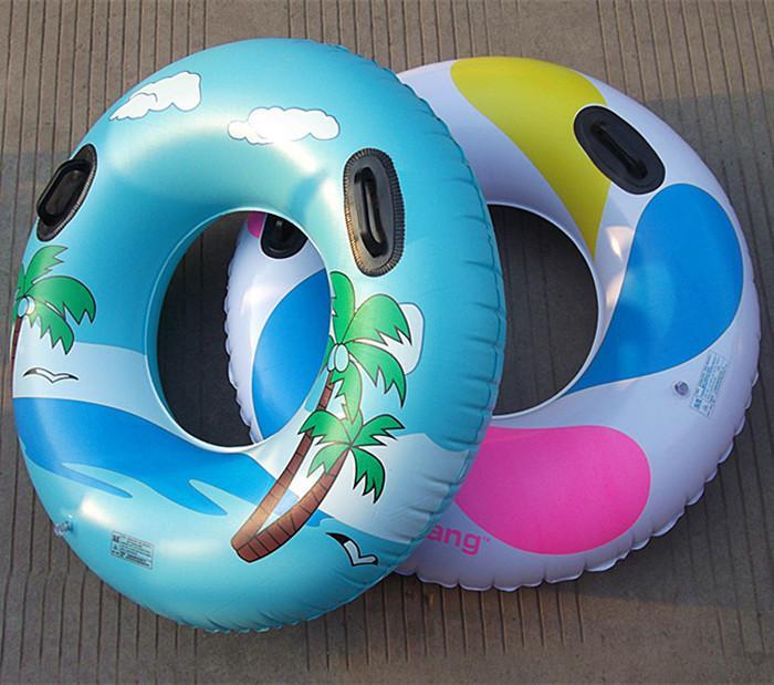 Añadir el anillo de nadar mango Anillo flotante mango 100 cm grande nadar círculo de natación Anillo de natación adulto