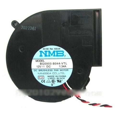 NMB BG0903-B044-VTL 9733 2 볼 베어링 DC 송풍기, 12V 1.34A 97 * 95 * 33mm 써미스터 Dell 9G180 프로젝터 마이크로파 용