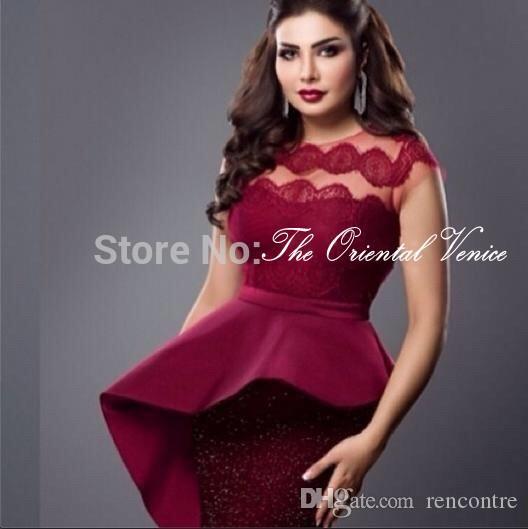 Myriam Fares Dresses 2016 Saudi Arabia Dubai Evening Gowns Burgundy ...