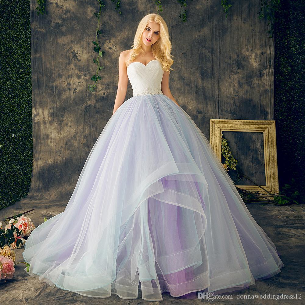 vestido де novia красочные длинные свадебные платья 2017 Sexy милая топ кружева тюль свадебное платье 2018 Свадебное платье Бесплатная доставка