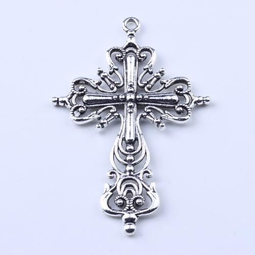 2016 Hot Sale antique Silver/Bronze hollow Cross pendant Manufacture DIY jewelry pendant fit Necklace or Bracelets charm 20pcs/lot 1636