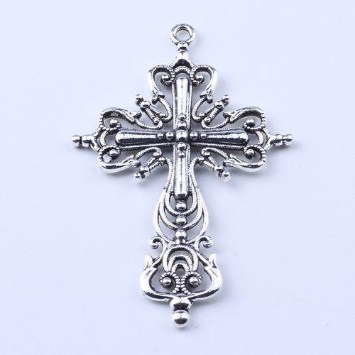 2016 vente chaude antique argent / bronze creux croix pendentif fabrication bricolage bijoux pendentif fit collier ou bracelets charme 20pcs / lot 1636