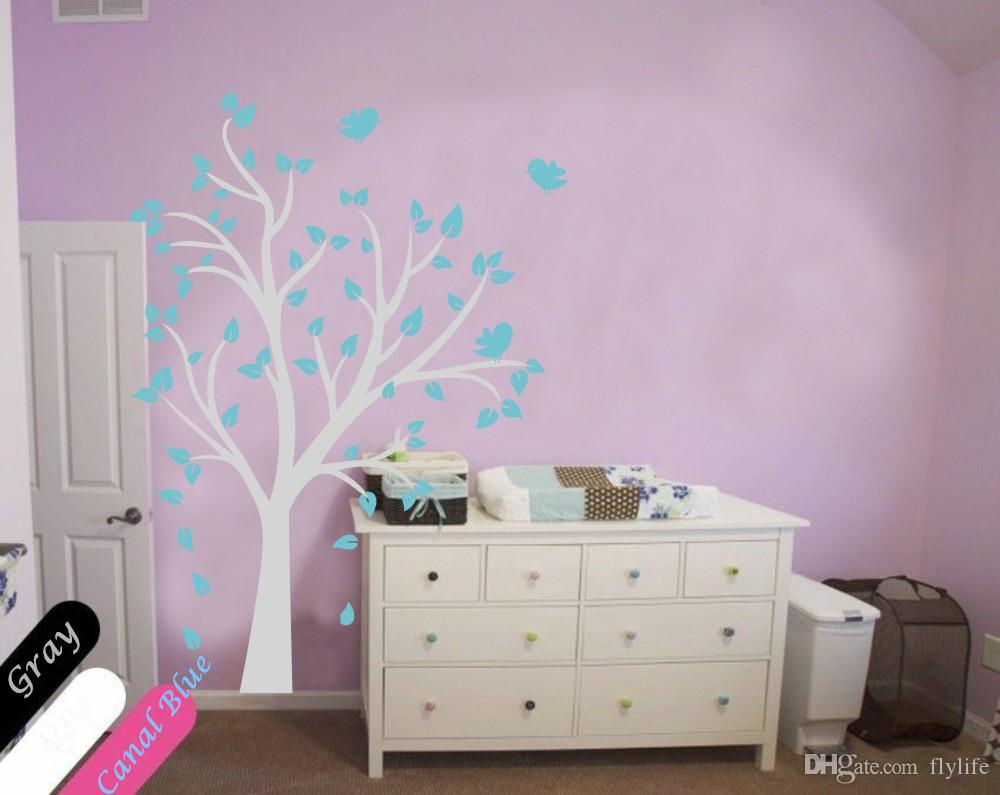 Large tree and birds vinyl wall decal stickers for baby nursery large tree and birds vinyl wall decal stickers for baby nursery room kids wall art decoration amipublicfo Gallery
