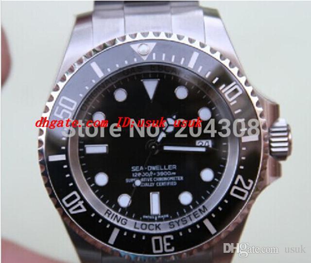 Luxus Armbanduhr 116660 Edelstahl Herren Automatikuhr Schwarz Keramik Lünette Herren Sport Armbanduhren Original Box