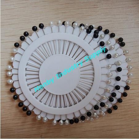 Pin de costura de cabeza de bola de color vintage blanco y negro de 38 mm 40 pasadores por rueda 24 ruedas por paquete