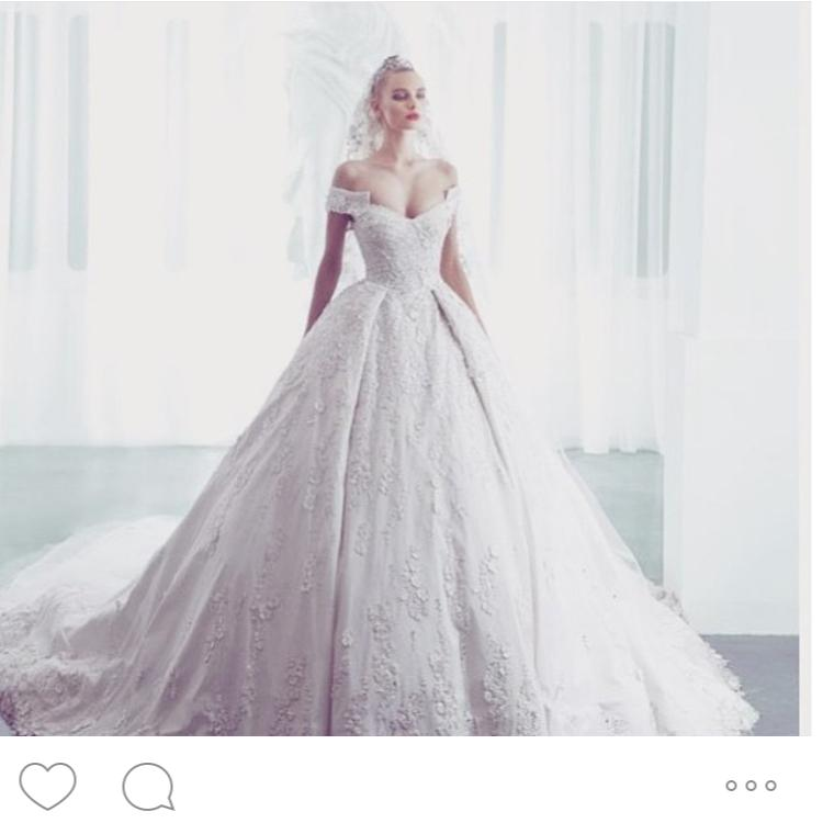 Designer Ziad Nakad Lace Wedding Dresses 2016 Ball Gown Spring Lace Appliques Pearls Bridal Gowns Vestido De Noiva