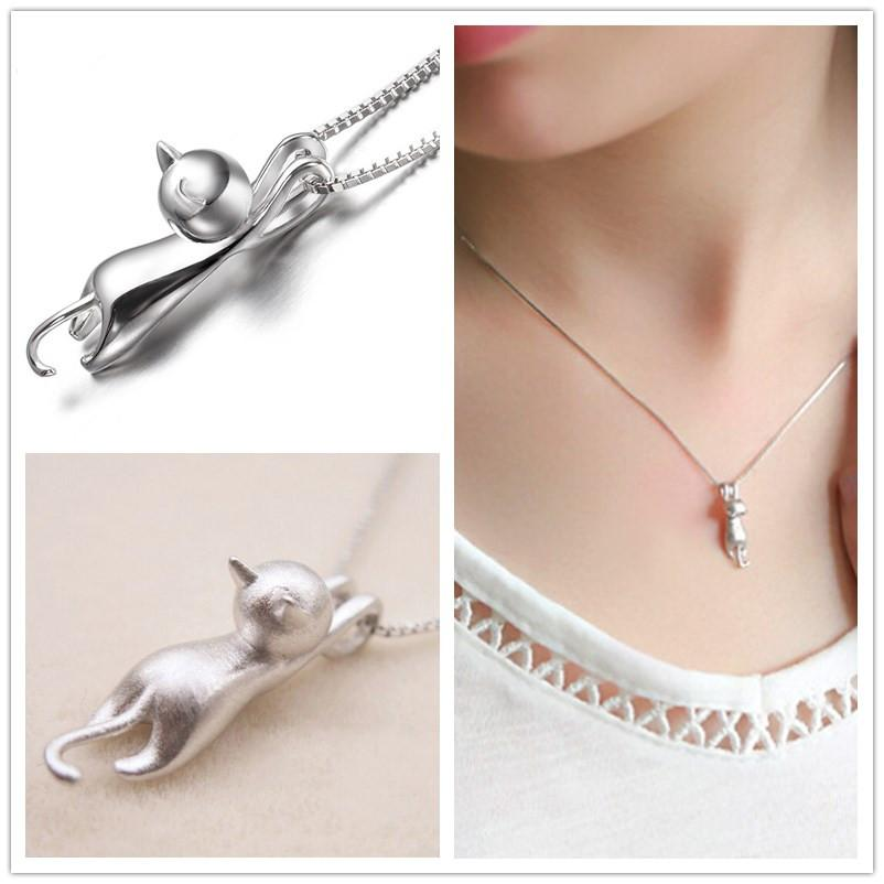 Sterling Silver Cat Charm 925