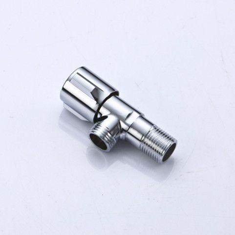 1 pieza de latón de alta calidad válvula de ángulo de baño WC Agua posición de la llave llave de paso de cromo plateado A D009