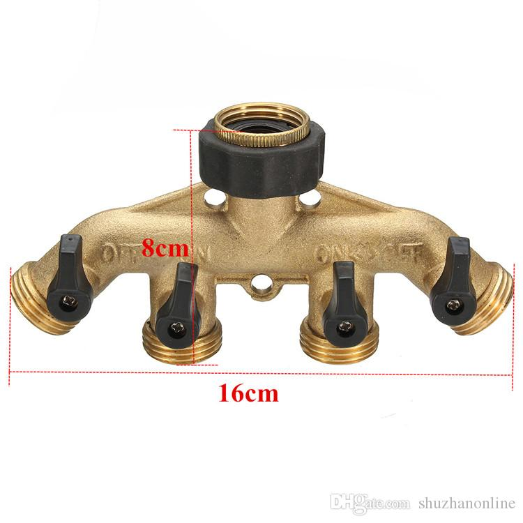 4 WAY TAP ADAPTOR FITS ALL SIZE TAPS WITH 4 GARDEN HOSE CONNECTORS