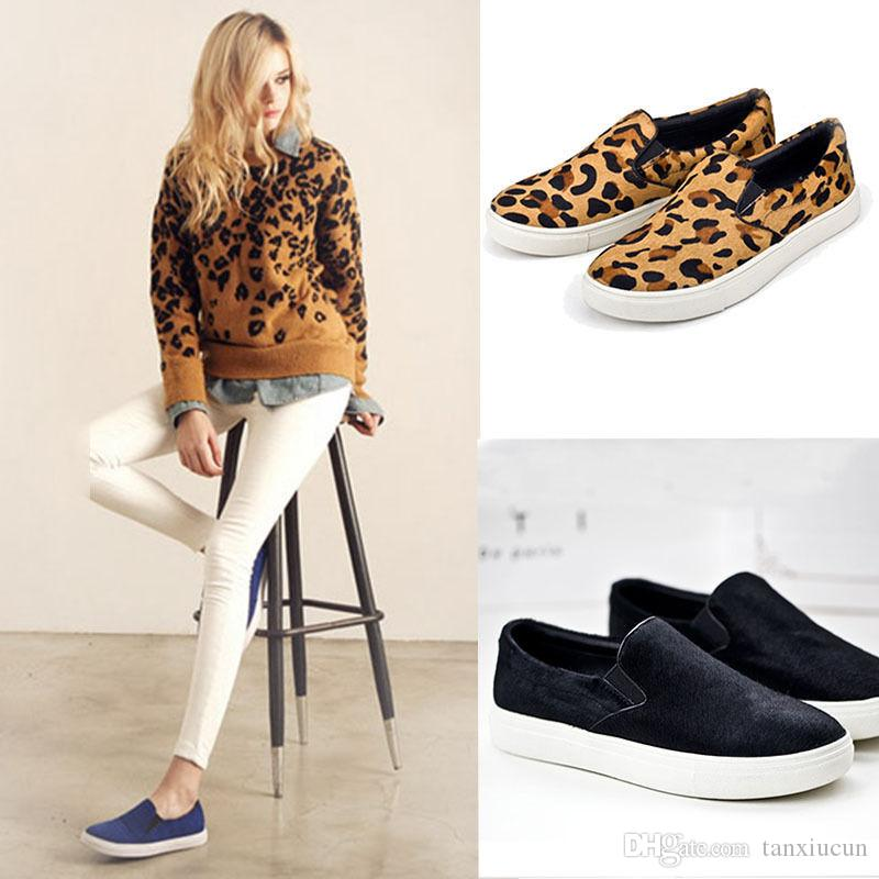 Fashion Women Shoes Loafers Slip On
