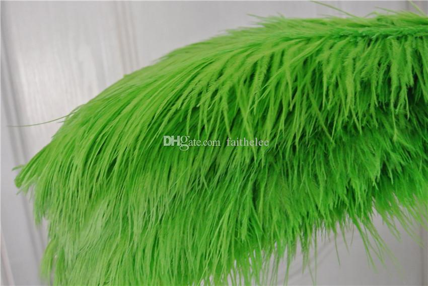 FREE SHIPPING 100pcs/lot 18-20inch lime green Ostrich Feather plume for wedding centerpiece decor event party decor